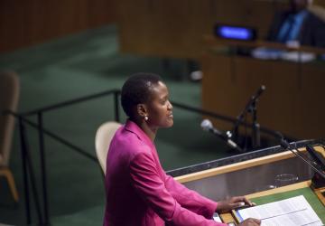 Vivian Onano Keynote speech at the UN General Assembly