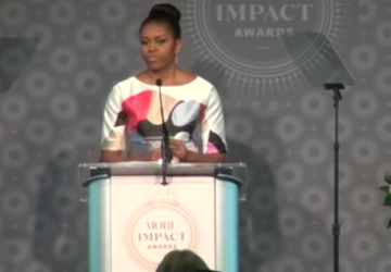 Michelle Obama asks women to support girls education abroad