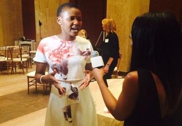 Vivian Onano receives the Leadership in Community Development & Youth Advocacy award